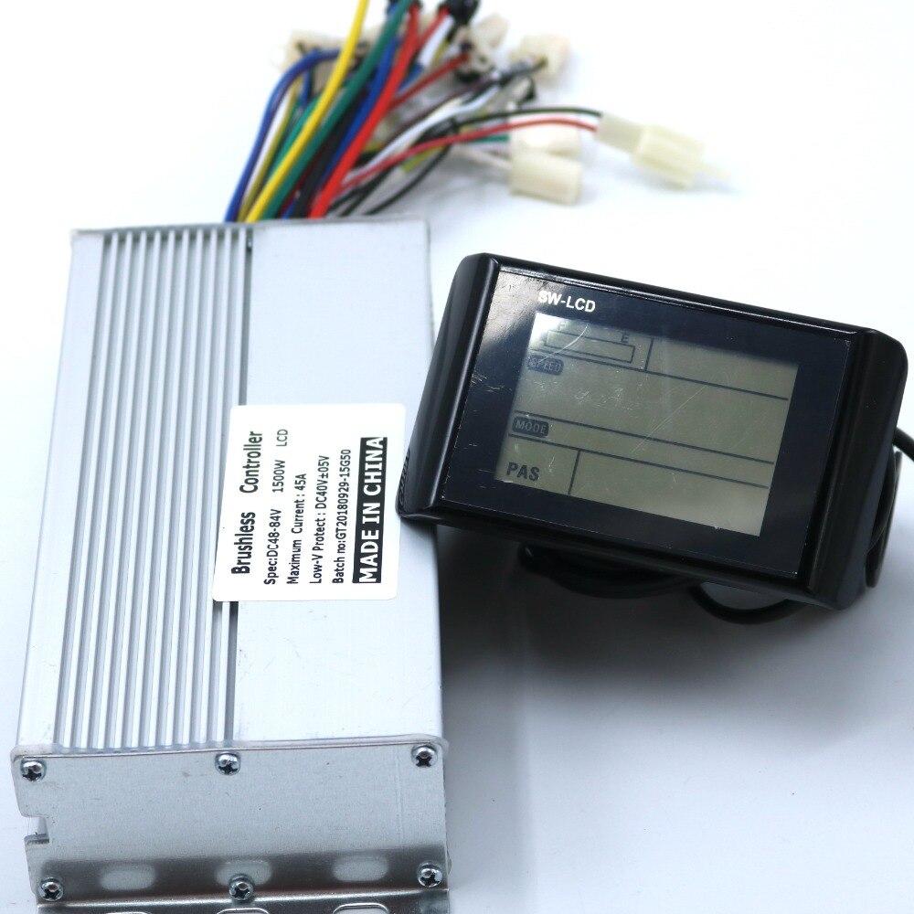 Alta qualidade 48-60v1500w ebike controlador com sw900 display lcd um conjunto