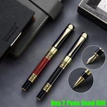 Classic Design Brand Metal Roller Ballpoint Pen Luxury Roose Wood Business Men Writing Pen Buy 2 Pens Send Gift