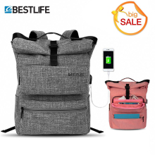 BESTLIFE External USB Charge Backpack For Women Men 15.6 Waterproof Laptop Backpacks Casual Teen School Travel Mochila Escolar