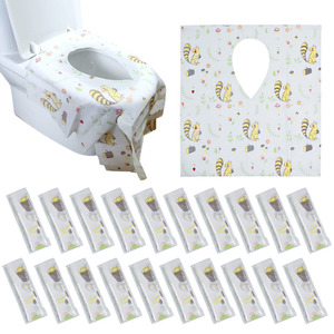 20Pcs Tiolet Seat Cover Disposable Tiolet Seat Covers Waterproof Tiolet Seat Pad Portable Travel Supplies Bathroom Accessories(China)