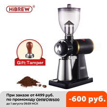 HiBREW 8 Settings Electric Coffee Bean Grinder for Espresso or American Drip coffee Durable Flat Burr  Die-casting Housing G1