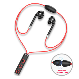 Image 1 - Bluetooth Oortelefoon In Ear Draadloze Sport Oortelefoon Magnetische Ketting Oor Telefoons Met Mic BT313 Mobile In Ear Oordopjes
