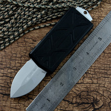 EXOCET Knife bead blast blade Aluminum alloy Handle with money clip Outdoor camping survival tool