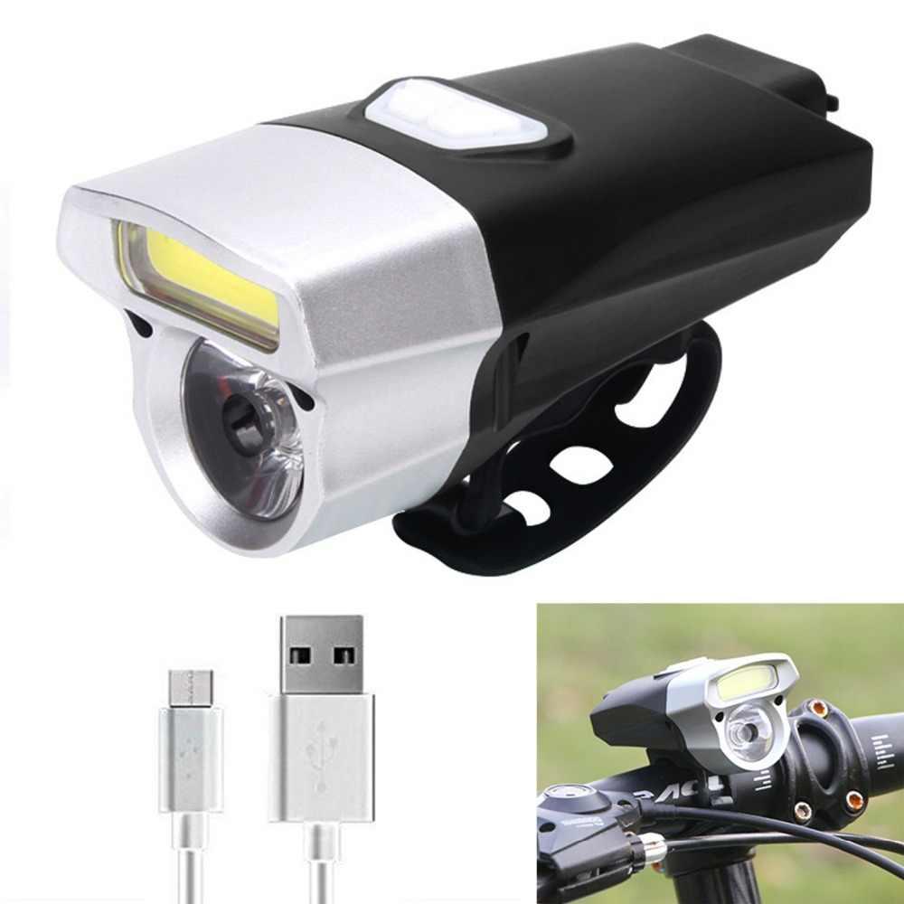 Lampka rowerowa LED latarka dla rowerów jazda na rowerze Headlignt 350 lumenów z przodu światła bezpieczeństwa noc konna jazda na rowerze MTB lampy drogowe USB reflektor