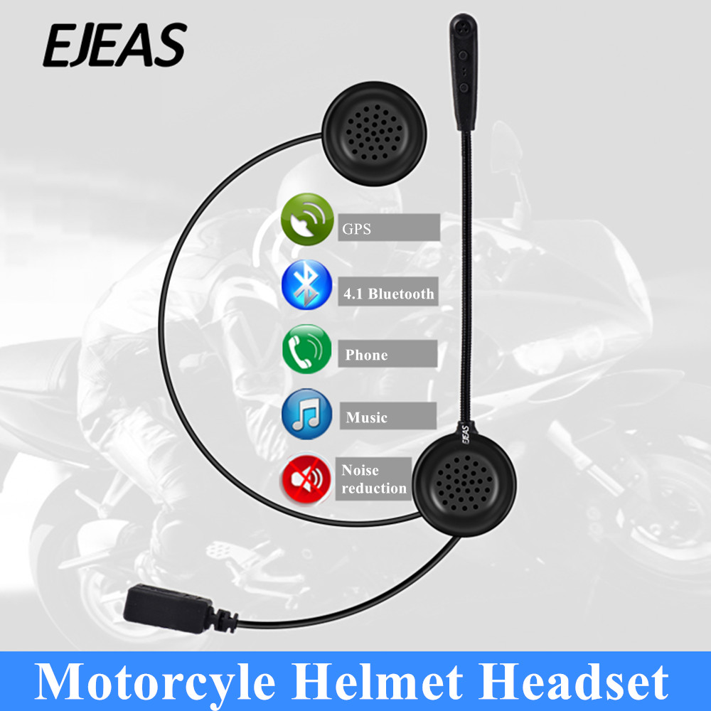 E1 Motorcycle Bluetooth Helmet Headsets Bluetooth 4.1 Wireless HD Stereo Sound For All Phone  Headset Speaker Mic