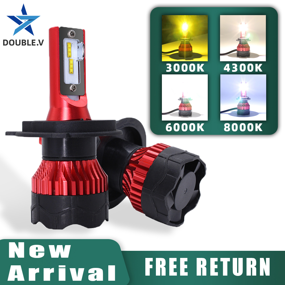 H7 <font><b>Led</b></font> <font><b>Light</b></font> <font><b>Bulbs</b></font> <font><b>H4</b></font> Mini Headlight Antiniebla Lamp 6000k 4300k <font><b>led</b></font> Kit H13 H11 H8 9005 HB3 9006 HB4 9007 H1 H27 880 Fog <font><b>Light</b></font> image