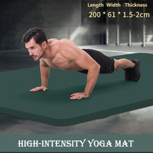 200CM 20MM High Quality Extra Sport Thick NBR Non-Slip Yoga Mats For Fitness Pilates Gym Home Fitness Tasteless Sport Pads
