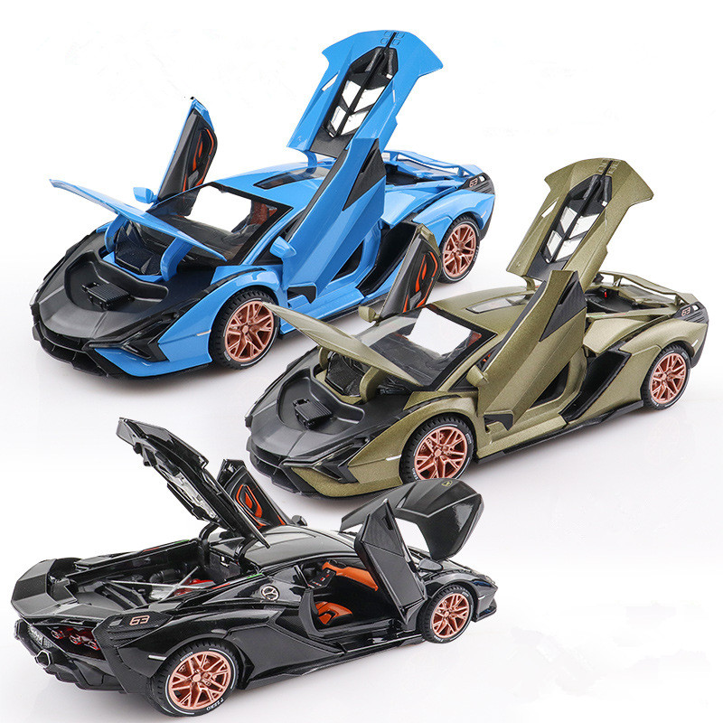 1:24 SIAN Lightning Blitzkrieg Supersport Children's Gifts Simulation Exquisite Die-Casting Collectible Alloy Model 017