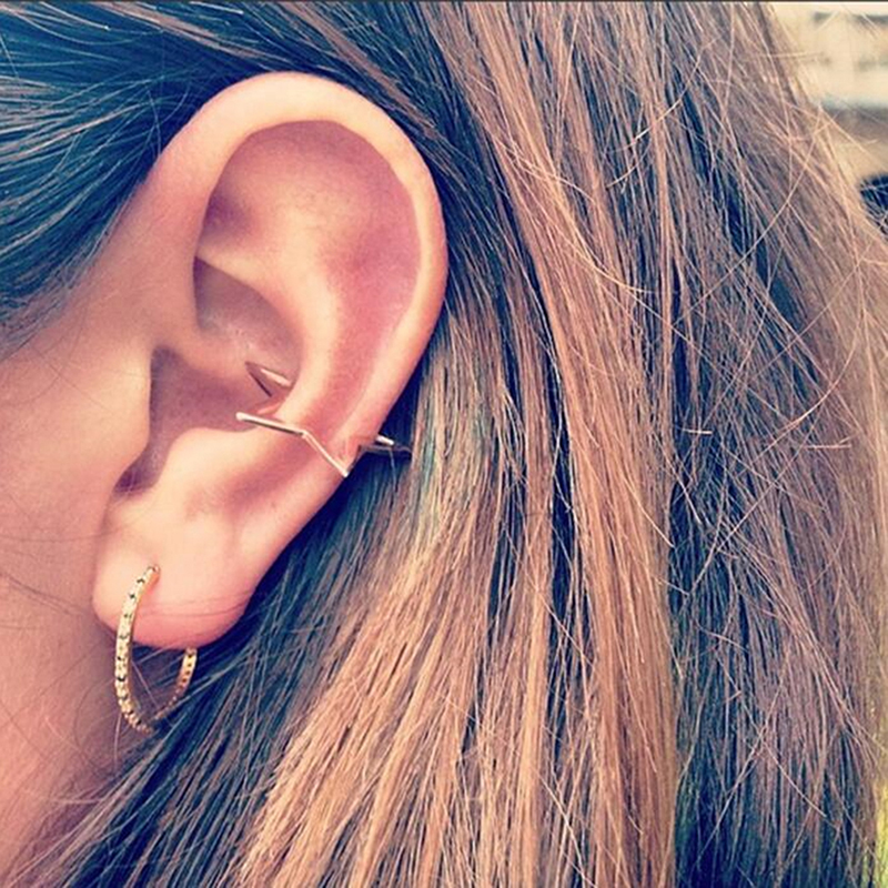Vintage Hollow Out Geometric Five-pointed Star Ear Cuff Clip Earrings For Women Fashion Jewelry Brincos