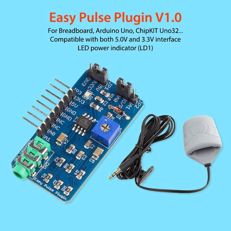 Elecrow Pulso Fácil Plugin V1.0 para Arduino Sensores Sensor de Frequência Cardíaca Dedo Pulso Eletrônico Módulos para o Projeto de DIY