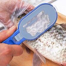2 en 1 en plastique échelle de pêche brosse intégrée coupe-poisson peau de poisson brosse raclage rapide enlever couteau à poisson nettoyage Scaler grattoir