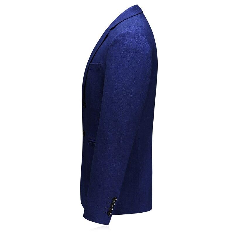 MarKyi 2019 осенний однокнопочный мужской бейзер пиджак классический мужской плюс размер 5xl slim fit костюм, пиджак в клетку для мужчин - 2