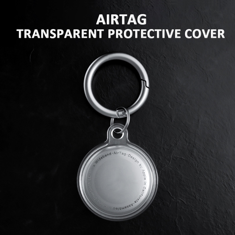 Silicone Protector Cover Keychain For AirTags Shockproof Anti-scratch Anti-fall Protective Case Key Holder Air Tags Shell Case