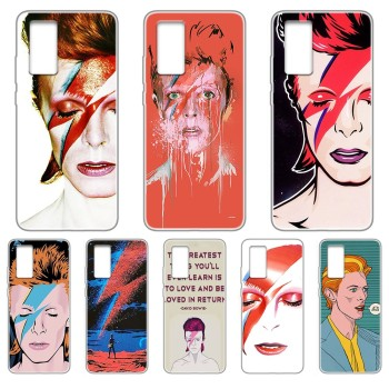 Art david bowie luxury back Etui Transparent Phone Case For HUAWEI nove 5t p 8 9 10 p20 P30 p40 P pro Smart 2017 2019 Z lite image