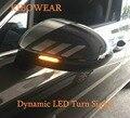 Светодиодный поворотный сигнал, Динамический указатель поворота для VW Passat B8, вариант Arteon светильник световой зеркальный индикатор, последо...