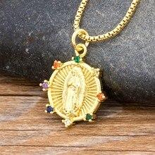 2020 nueva llegada Virgen María COLLAR COLGANTE de religión cristiana cobre y circonita cúbica collar regalo de la joyería para las mujeres