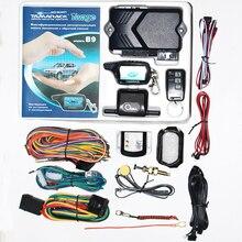 러시아어 Twage B9 2 웨이 자동차 경보 시스템 + 엔진 시작 LCD 원격 제어 키 키 체인 B 9 전용
