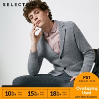 SELECTED Men's Autumn & Winter Jacquard Knitted Suit Jacket S|418425536