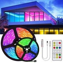 15M 20M 5050 RGBWW RGB led bande lumière imperméable DC12V RGB bande ruban Led 5M 10M Led bande lumière avec IR à distance pour noël
