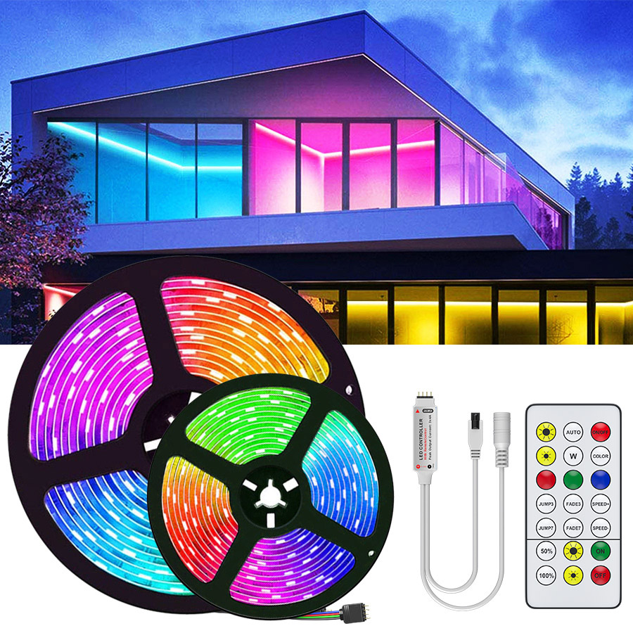 15M 20M 5050 RGBWW RGB led strip light Waterproof RGB Tape Led Ribbon 5M 10M Led Strip Light With IR Remote For Christmas