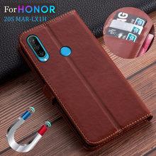 Onur 20 S durumda deri Flip Case Huawei onur 20 S MAR-LX1H kılıf cüzdan kart tutucu standı kitap kapağı durumda onur için 20 S 6.15