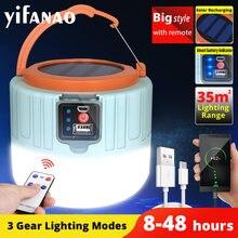 LED solaire lumière de Camping USB ampoule Rechargeable pour lampe de tente extérieure lanternes portatives lumières de secours pour barbecue randonnée livraison directe