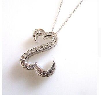 Мода 2017 новое поступление серебро 925 пробы сердце стрела фианит Джейн Сеймур Открытое сердце ожерелье