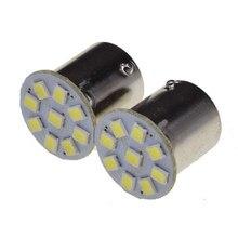 10 pces carro led p21w 1156 ba15s 1157 bay15d p21/5 w s25 branco drl reverso luz volta luzes traseiras lâmpadas 24v led turn signal lâmpada