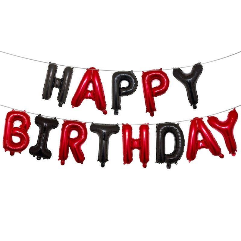 16 Inch Gelukkige Verjaardag Folie Ballonnen Baby Jongen Meisje Eerste Verjaardag 1st Een Partij Decoratie Guirlande Kids Adult