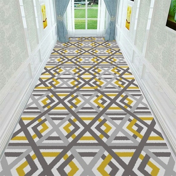 Nordic Style Stair Tapete 80*200cm Long Geometric Corridor Carpet and Rug Hallway Welcome Doormat Home Decor Anti-Slip Floor Mat