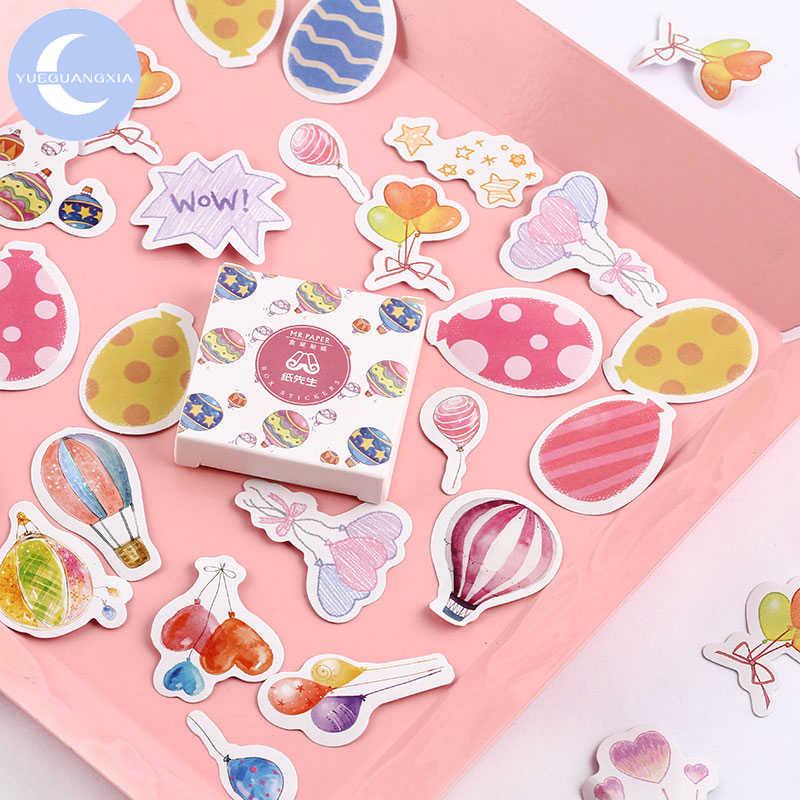 YUEGUANGXIA 40 adet/kutu sevimli şeker Kawaii günlüğü el yapımı yapışkanlı kağıt pul japonya çıkartmalar Scrapbooking kırtasiye çıkartmalar