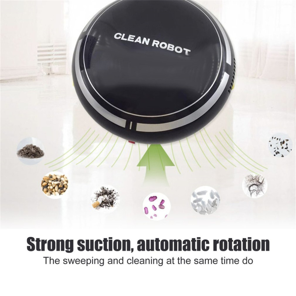 Mini Vacuum Cleaning Robot With 150ml Dust Box Household Floor Carpets Auto Dust Cleaner Rechargeable Vacuum Clean Robot|Hand Push Sweepers| |  - title=