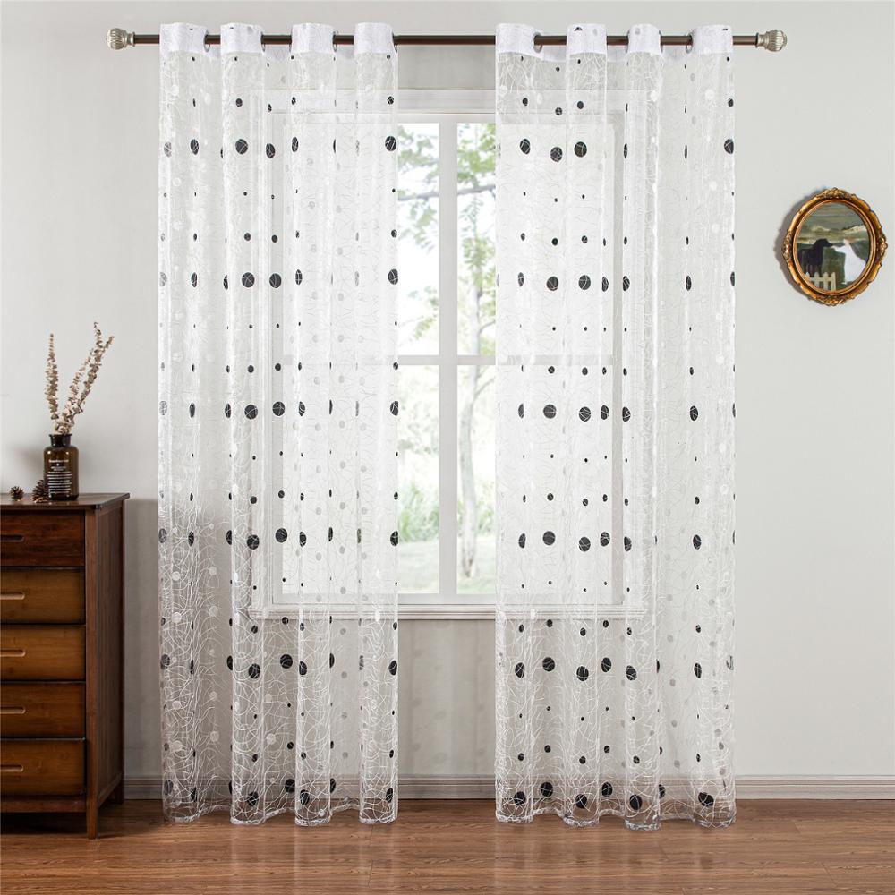Купить шторы topfinel bird nest прозрачные занавески в горошек для