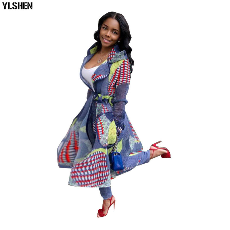 Autumn African Dresses For Women Printed Hooded Coat Clothes Basin Riche Robe Africaine Femme 2019 Dashiki Africa Dress Clothing