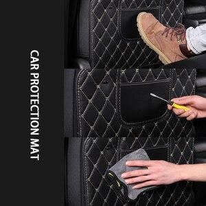 Image 5 - Almohadilla de cuero PU Anti patada para niños, funda protectora de respaldo de asiento impermeable para coche, almohadillas antisuciedad antibarro universales con bolsa de almacenamiento