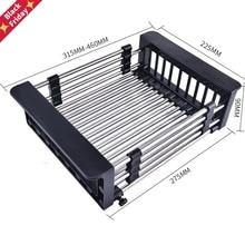 SINK-TABLEWARE-FILTER Draining-Shelf Kitchen-Sink-Drain-Basket Water-Basket Retractable