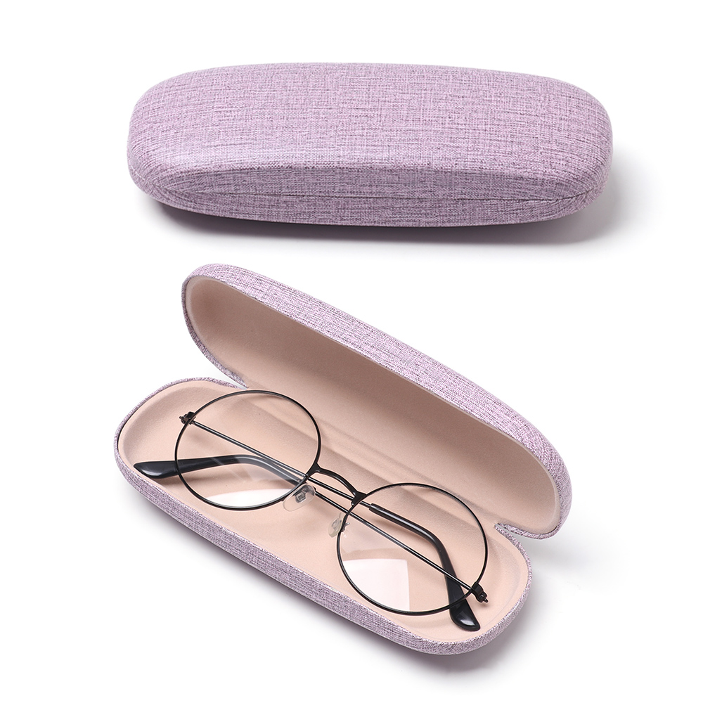 1 Pcs Unisex Fashion Pretty Reading Eyewear Case For Men Women Kids Linen Eye Glasses Hard Shell Protector Sunglasses Box Case