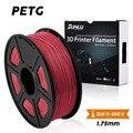 SUNLU PETG 3d принтер накаливания 1,75 мм полноцветный прозрачный белый пластик допуск +/-0,02 мм для подростков