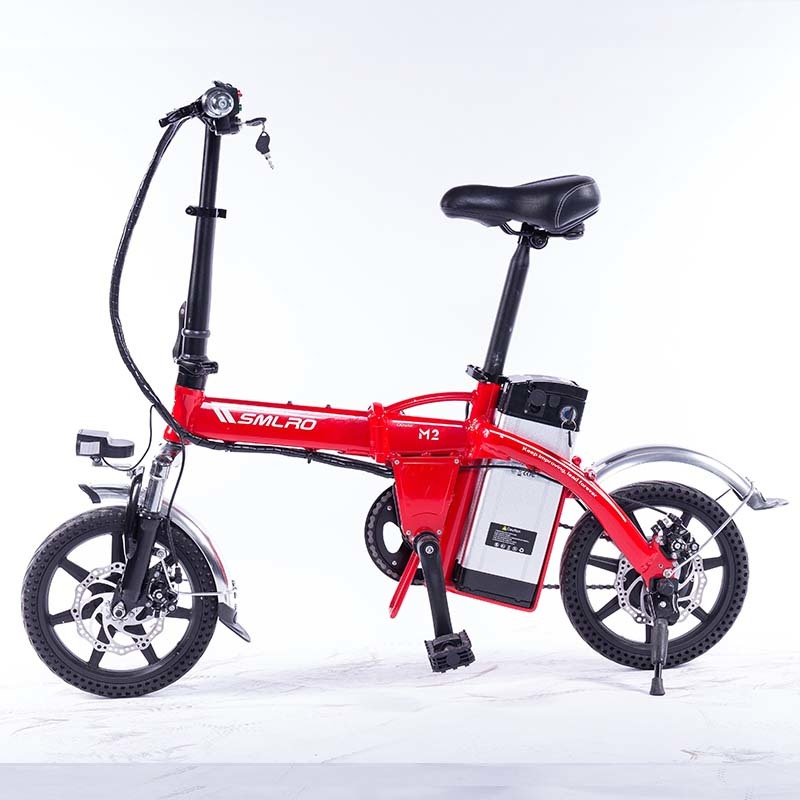 M2 Folding Electric Bicycle 48V Lightweight E-Bike Mini Electric Bike Aluminum Alloy Frame Foldable Ebike with Removable Battery 2