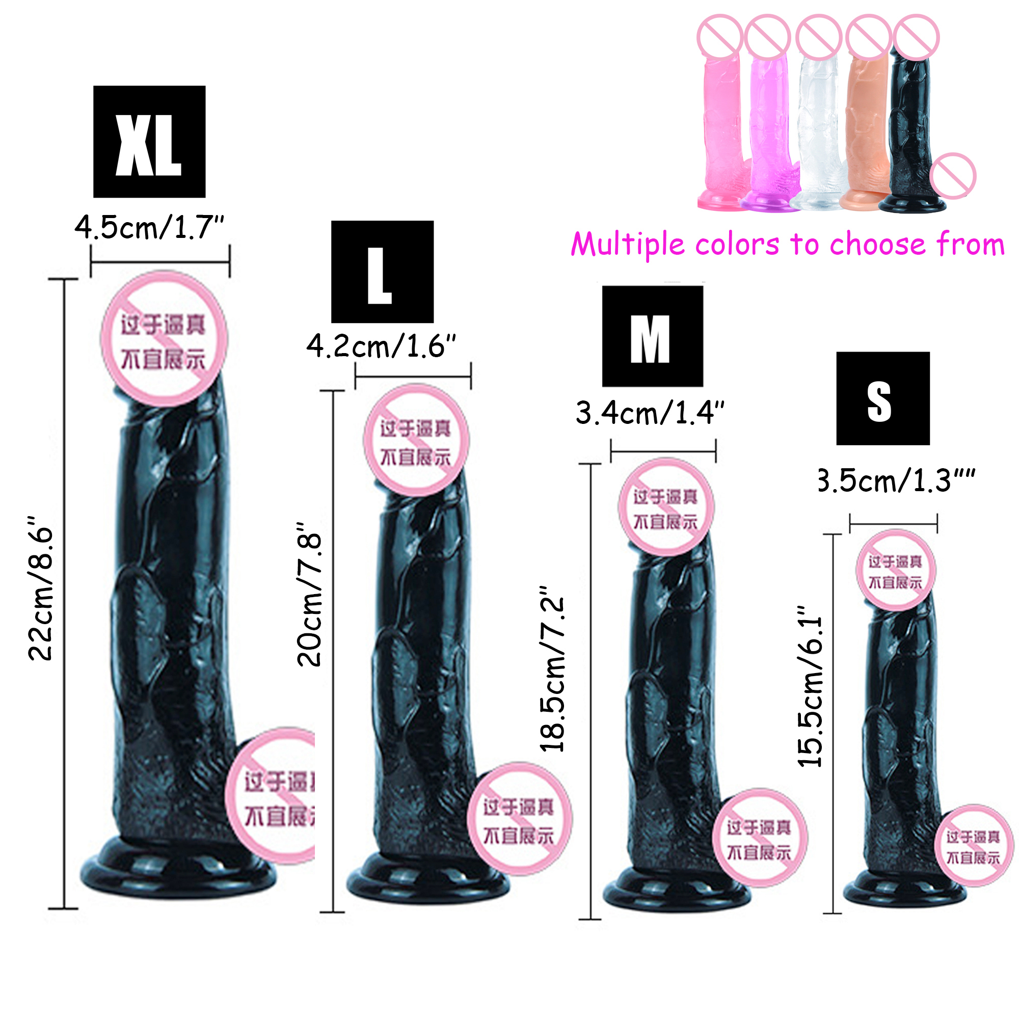 Soft Jelly Huge Dildo Realistic Anal Dildo <font><b>Penis</b></font> Suction Cup Male Dick Female Masturbation <font><b>Toys</b></font> for <font><b>Adult</b></font> <font><b>Sex</b></font> <font><b>Toys</b></font> for Woman image