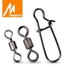 MEREDITH – accessoires de pêche/outils de pêche, anneaux pivotants solides, connecteur de pêche, pratique, boucle sûre, crochets de pêche