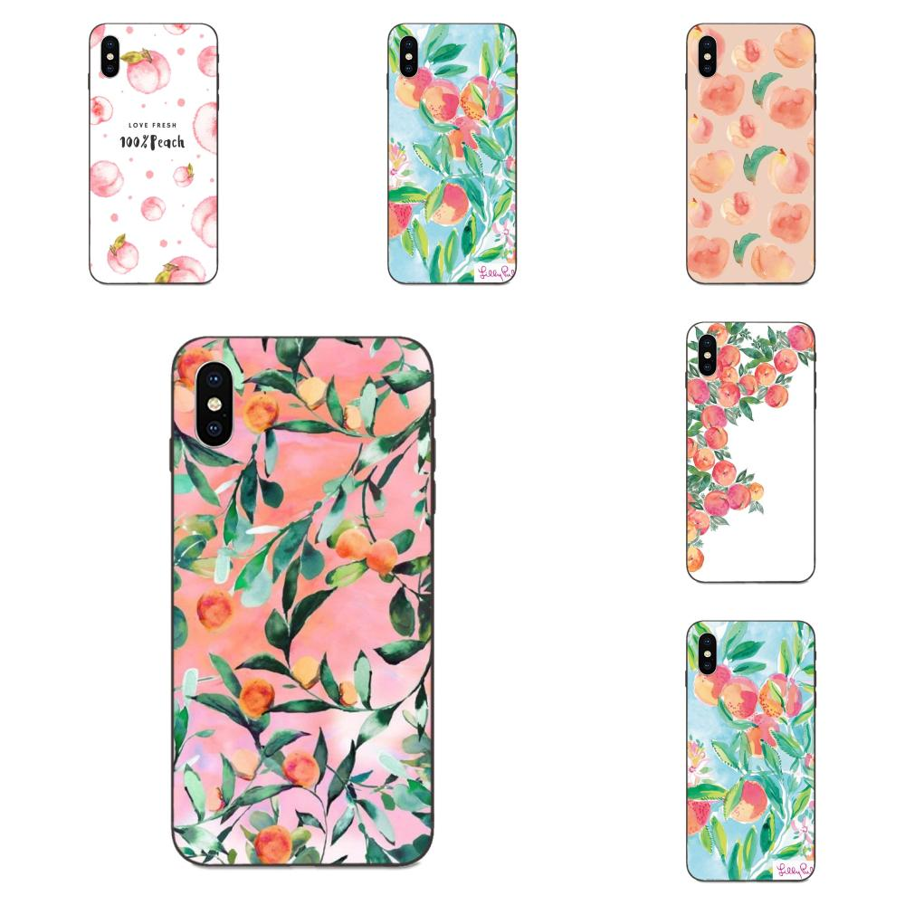 Design Phone <font><b>Case</b></font> <font><b>Summer</b></font> Fruit Peach For <font><b>Huawei</b></font> nova 2 2S 3i 4 4e 5i Y3 Y5 II <font><b>Y6</b></font> Y7 Y9 Lite Plus Prime Pro 2017 <font><b>2018</b></font> 2019 image