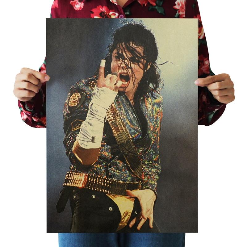 1 pc retro michael jackson monroe jolie lady gaga scarlett schwarzenegger poster adorno poster posters vintage pintura decorativa
