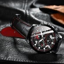 Часы наручные мужские кварцевые модные спортивные водонепроницаемые