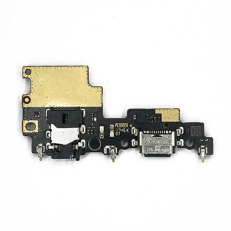 Asli Pengisian Port untuk Xiaomi Mi A1 5X Papan Charge Usb PCB Dock Konektor FLEX Kabel Pengganti Perbaikan Spare bagian