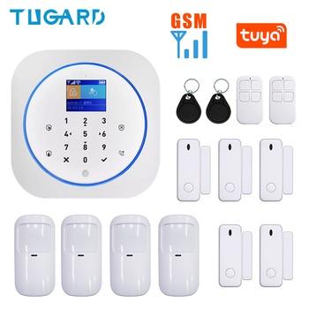 433MHz Wireless GSM WiFi Alarm WiFi Smart Home Alarm GSM Security Burglar Alarm System for IOS/Android Tuya APP Remote Control