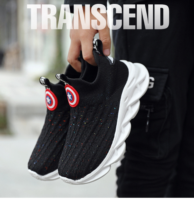 2019 Autumn boys sneakers kids shoes girls travel casual sports Socks shoes Mesh children's breathable running shoes (7)