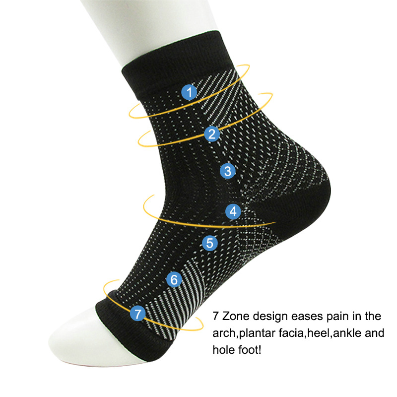 Women Ankle Heels Support Men Compression Foot Protect Angel Sleeve Heel Arch Support Pain Relief Hot Socks