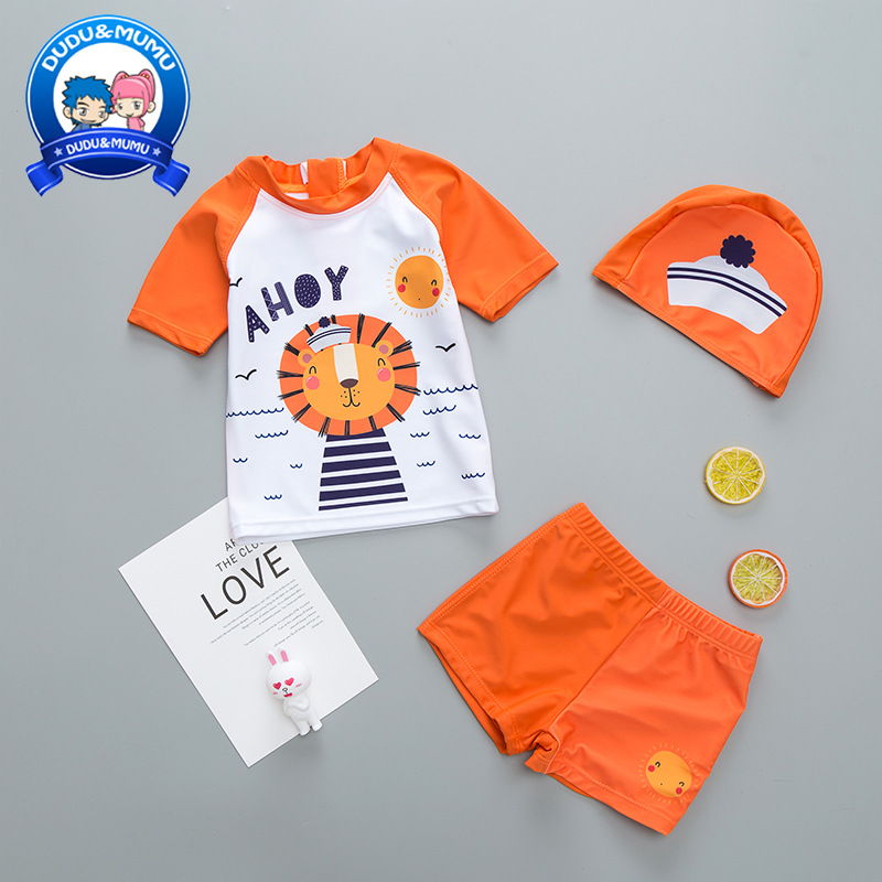 Korean-style 2019 CHILDREN'S Swimwear BOY'S Split Type Swimwear Baby Infants Children Men's Swimsuit