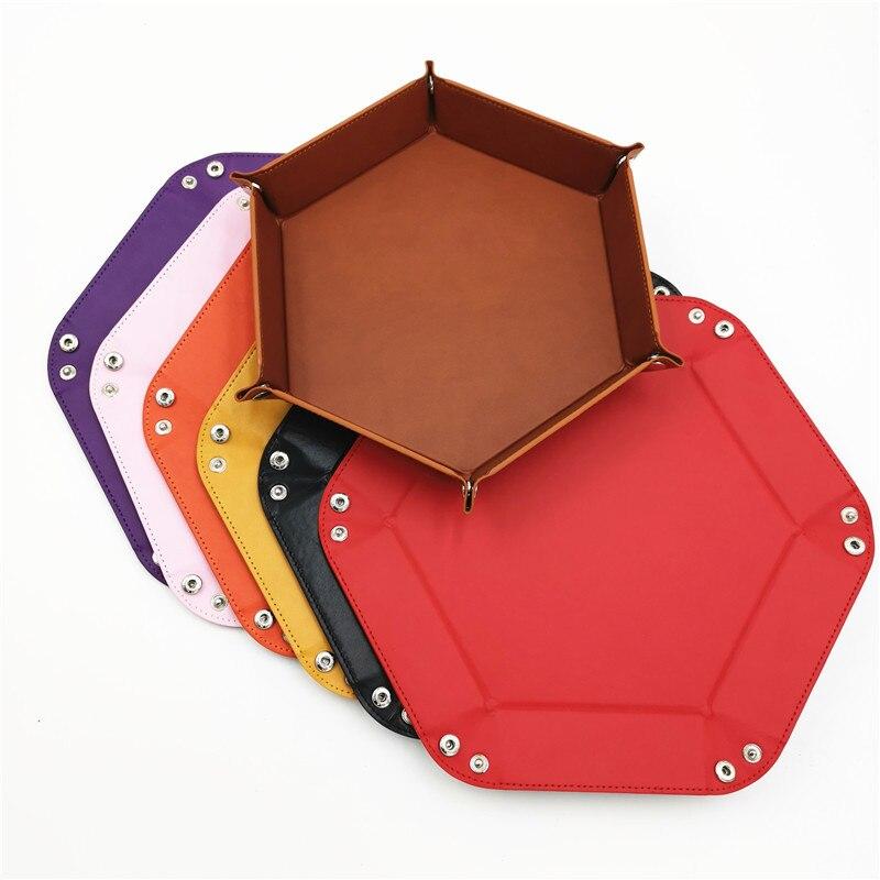 Игральные кости DND лоток dados de rol для хранения 14 цветов шестигранный бархатный тканевый Пинцет дисковый складной ящик для хранения pu лоток Настольный ящик для хранения